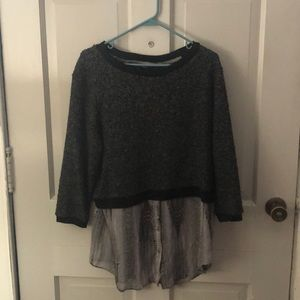 Sweater with chic sheer underlining